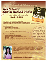 How to Achieve Glowing Health & Vitality printalble flyer