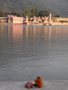 View of Rishikesh and the Ganges
