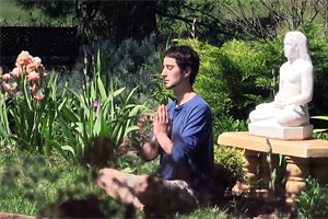 Garden meditation at The Expanding Light Retreat