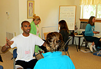 Meditation class session at The Expanding Light Retreat