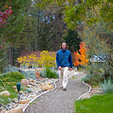 Gardens, flowers, forest are within and around the Expanding Light Spiritual Retreat for Meditation, Yoga, and Health