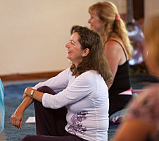 Enjoyment in class at The Expanding Light Retreat
