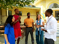 Diksha McCord, Director of Meditation Teacher Training with guests