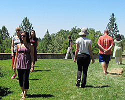 Walking meditation at The Expanding Light Retreat