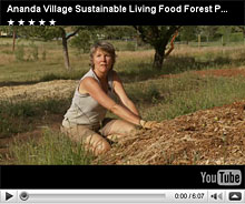 Devidasi talking about the Living Food Forest