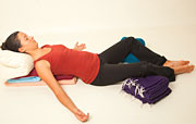 Restorative Yoga pose