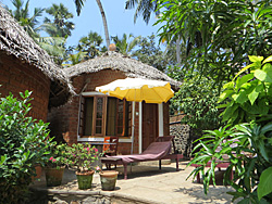 Small cottage during Expanding Light Retreat to Kerala, India