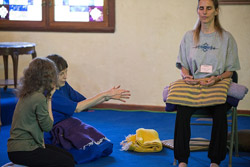Ananda Meditation Teacher Training -Anandi demonstrating method