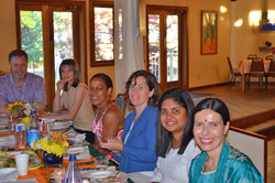 Ananda Meditation Teacher Training celebration dinner.