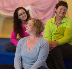 Ananda Meditation Teacher Training fun in class.