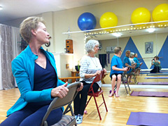 teaching yoga to seniors  people with osteoporosis