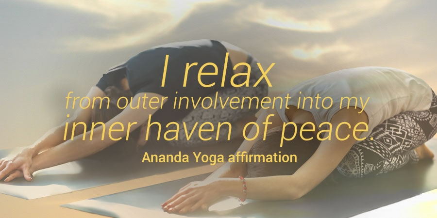 Ananda Yoga Affirmation with asana image