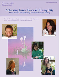 Achieving Inner Peace & Tranquility booklet
