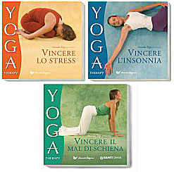 Text Box: Süheyla has volunteered her time as a model for three yoga therapy books produced by Ananda Assisi. Clockwise from upper left: Overcome Stress, Overcome Insomnia, and Overcome Back Pain.