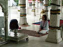 alone in the temple