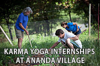 Karma Yoga Internships at Ananda Village
