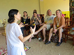 Diksha teaching in Kerala