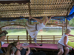Houseboat fun in Kerala