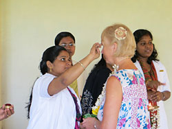 Rohini being blessed in Kerala