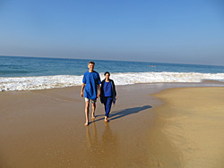 Walk on the beach in Kerala