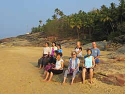 Group meditation in Kerala with Ananda Travels