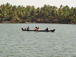 On the river, Kerala with Ananda Travels