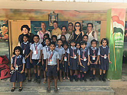 Picture with the children, Kerala with Ananda Travels