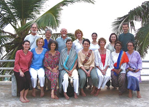 In Kerala with one of our groups