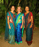Adriana, Lauri and Mary with their new saris