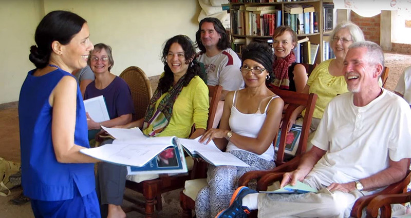 Kerala Ayurvedic Resort class with Diksha McCord