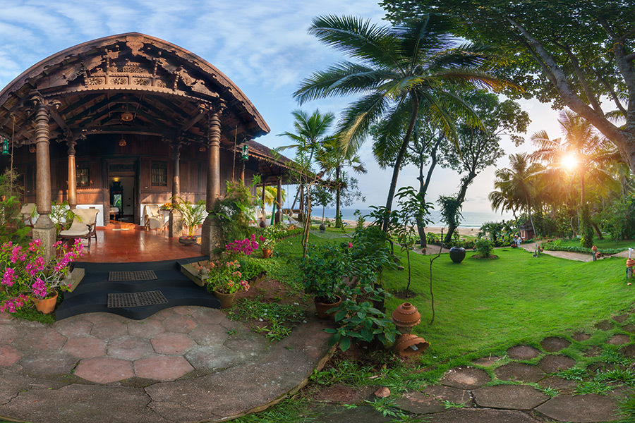 Kerala Ayurvedic Resort Retreat Sunset