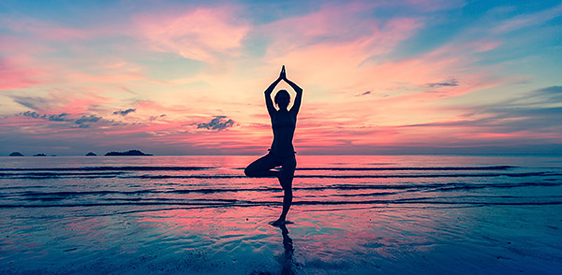 Kerala Ayurvedic Resort Retreat Sunset Yoga