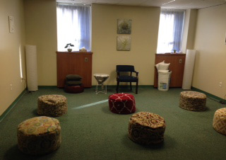 September: The meditation room after the makeover