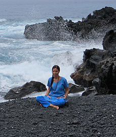 Diksha meditating Kona Hawaii
