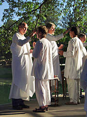Blessing at a Kriya Initiation