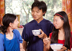 Diksha with Lee Family - cooking Chinese Style