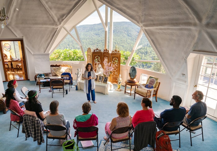 Diksha teaching Meditation Teacher Training