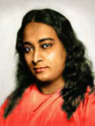 Yogananda in orange robes