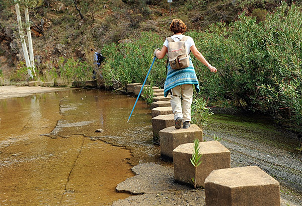 stepping-stones- Camino in Spain