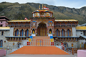 Temple in centre of village of Badrinath,India