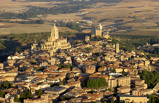Segovia Spain from air