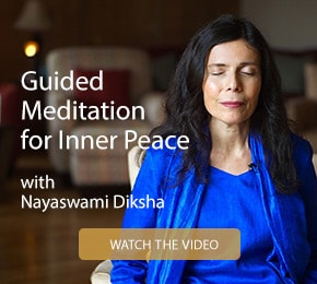 Guided meditation for inner peace with Nayaswami Diksha