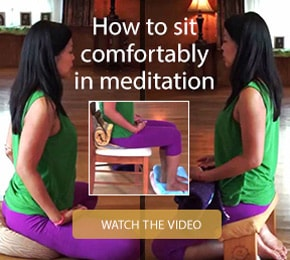 How to sit comfortably in meditation with Ananda